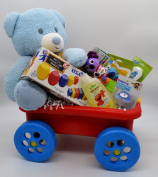 Baby Boy Wagon from Bob's Gift Baskets