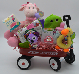 Baby Girl Radio Flyer Wagon from Bob's Gift Baskets