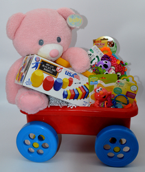 Baby Girl Wagon from Bob's Gift Baskets