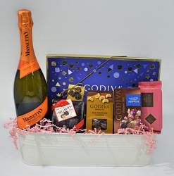Champagne and Chocolate Tin from Bob's Gift Baskets