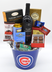 Cubs and Wine Tin from Bob's Gift Baskets
