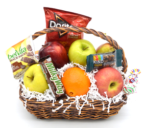 Medium Oval Fruit Basket With Snacks from Bob's Gift Baskets