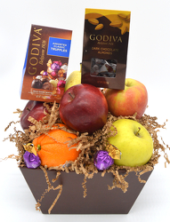 Small Fruit Box with Godiva from Bob's Gift Baskets