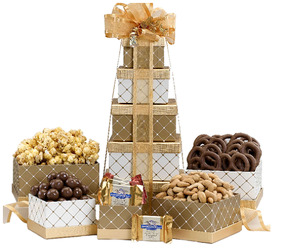 Box Tower from Bob's Gift Baskets