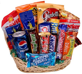 Junk Food Basket from Bob's Gift Baskets